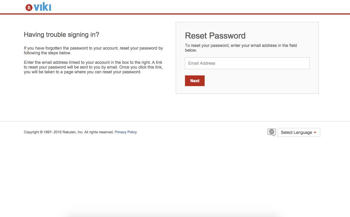 I Forgot My Rakuten Id Password How Do I Reset It Viki Community
